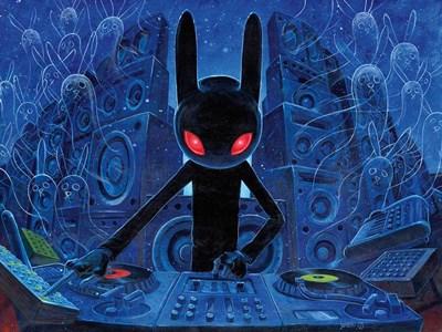 DJ BlackRabbit Poster by Aaron Jasinski for $28.75 CAD