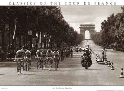 1975 Tour Finish On The Champs Elysees Poster by Unknown for $43.75 CAD