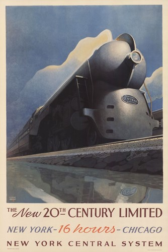 20Th Century Limited Poster by Leslie Ragan for $55.00 CAD