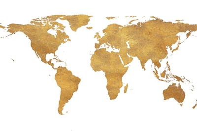 Gold World Map (gold foil) Poster by SD Graphics Studio for $23.75 CAD