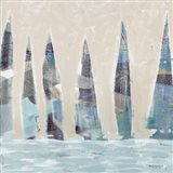 Muted Sail Boats Square I