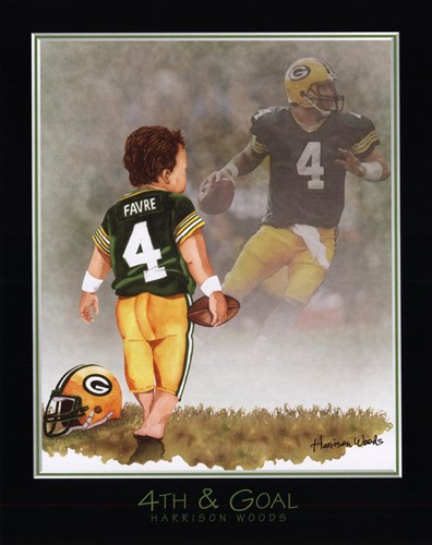 4th and Goal Poster by Harrison Woods for $16.25 CAD