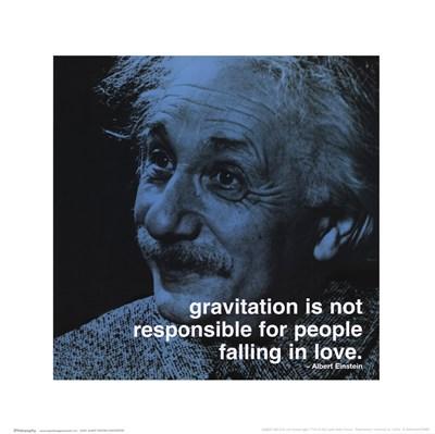 Albert Einstein - iPhilosophy - Gravitation Poster by Unknown for $22.50 CAD