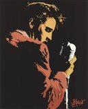 Elvis - Singing Profile (postercard)