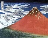 Hokusai - Red Mt Fuji