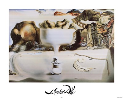 Apparition of Face and Fruit Dish on a Beach, c.1938 Poster by Salvador Dali for $31.25 CAD