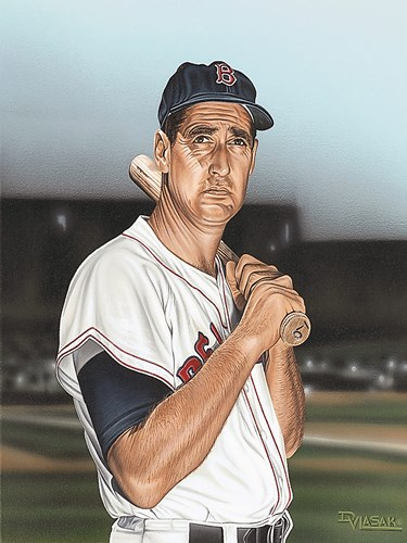 Ted williams Portrait Poster by Darryl Vlasak for $37.50 CAD