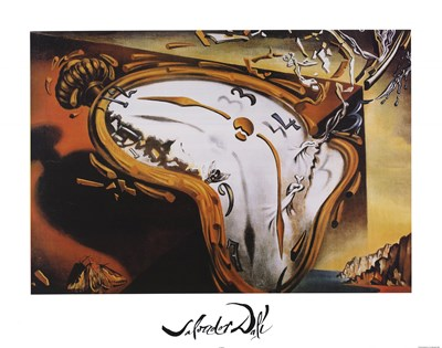 Soft Watch At Moment of First Explosion, c.1954 Poster by Salvador Dali for $43.75 CAD