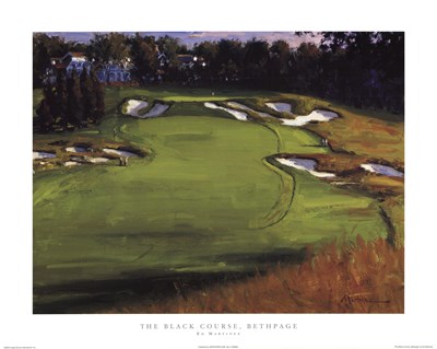 The Black Course, Bethpage Poster by Ed Martinez for $22.50 CAD
