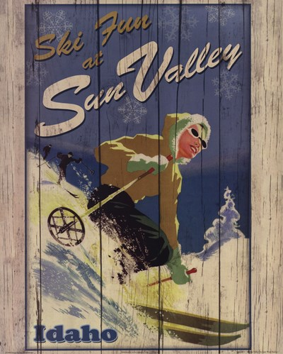 Ski Sun Valley Poster by Kate Ward Thacker for $36.25 CAD