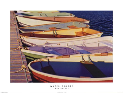 Water Colors Poster by Rob Brooks for $25.00 CAD