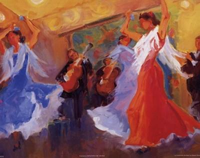 La Celebracion del Baile Poster by Sharon Carson for $7.50 CAD