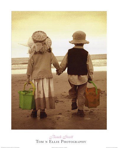 Beach Stroll Poster by Photography Tom N Ellie for $18.75 CAD