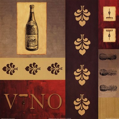 Vino in Red II Poster by William Verner for $18.75 CAD