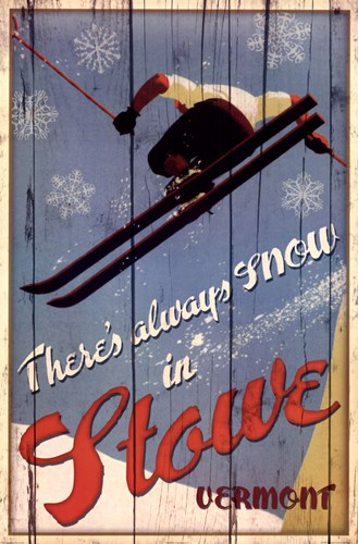 Ski Stowe Poster by Kate Ward Thacker for $43.75 CAD