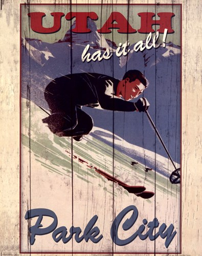 Ski Park City Poster by Kate Ward Thacker for $22.50 CAD
