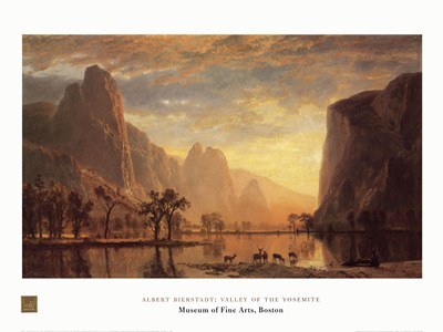Valley of the Yosemite Poster by Albert Bierstadt for $42.50 CAD