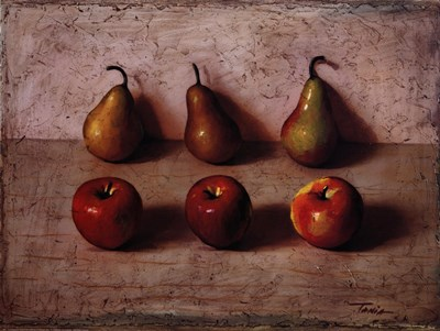 3 Apples and 3 Pears Poster by Tania Darashkierick for $43.75 CAD