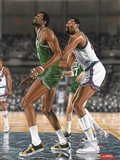 Wilt Chamberlin and Bill Russell