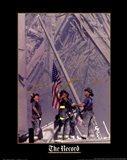 Firemen Raising the Flag at World Trade Center