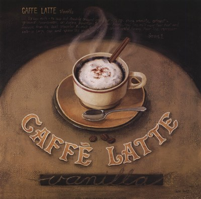 Cafe-Latte Poster by Lisa Audit for $20.00 CAD