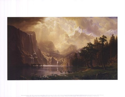 Among the Sierra Nevada, California, 1868 Poster by Albert Bierstadt for $16.25 CAD