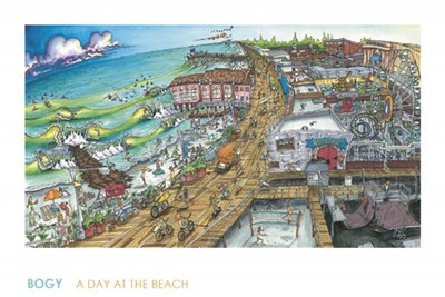 A Day at the Beach Poster by Bogushefsky for $50.00 CAD