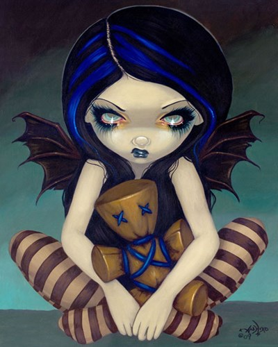 Voodoo In Blue Poster by Jasmine Becket-Griffith for $32.50 CAD