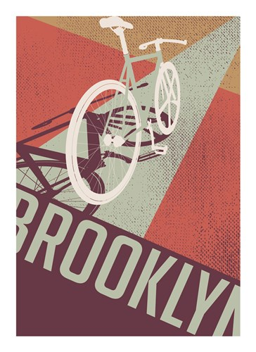 Bike Perspective Poster by Brooklyn Industries for $32.50 CAD