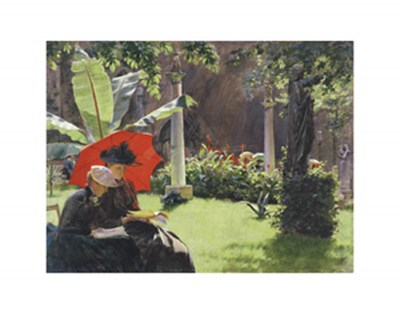 Afternoon in the Cluny Garden, Paris, 1889 Poster by Charles Courtney Curran for $15.00 CAD