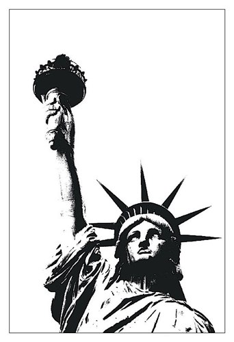 Statue of Liberty (outline) Poster by Erin Clark for $20.00 CAD