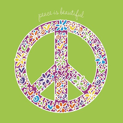 Peace is Beautiful Poster by Erin Clark for $20.00 CAD