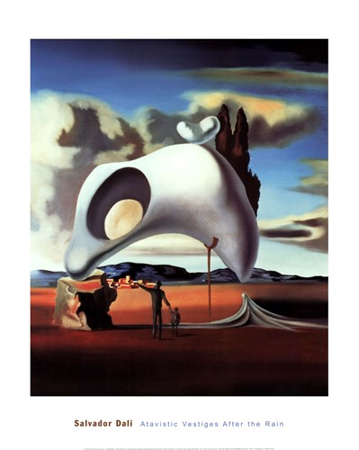 Atavistic Vestiges After the Rain, c.1934 Poster by Salvador Dali for $50.00 CAD