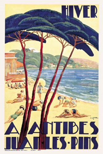 Antibes/Hiver, ca. 1930 Poster by De Guinhald for $52.50 CAD