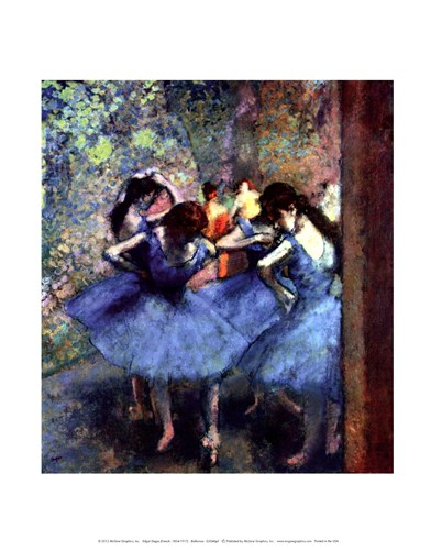 Ballerinas Poster by Edgar Degas for $15.00 CAD