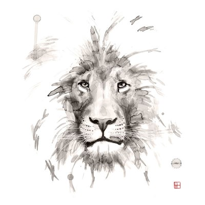 Lion Poster by Philippe Debongnie for $60.00 CAD