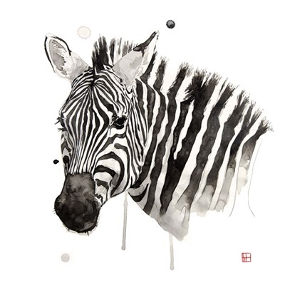 Zebra II Poster by Philippe Debongnie for $60.00 CAD