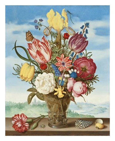 Ambrosius Bosschaert, Bouquet of Flowers on a Ledge Poster by Dutch Florals for $40.00 CAD