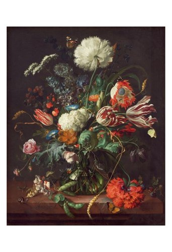 Jan Davidsz de Heem, Vase of Flowers Poster by Dutch Florals for $20.00 CAD
