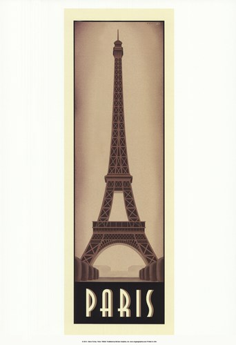 Paris Poster by Steve Forney for $20.00 CAD