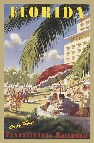 Florida Go by Train Poster by Unknown for $60.00 CAD