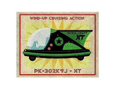 Patrol Craft XT Box Art Tin Toy Poster by John W. Golden for $16.25 CAD