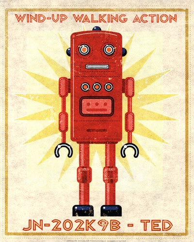Ted Box Art Robot Poster by John W. Golden for $26.25 CAD
