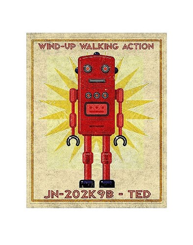 Ted Box Art Robot Poster by John W. Golden for $16.25 CAD