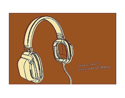 Lunastrella Headphones Poster by John W. Golden for $16.25 CAD