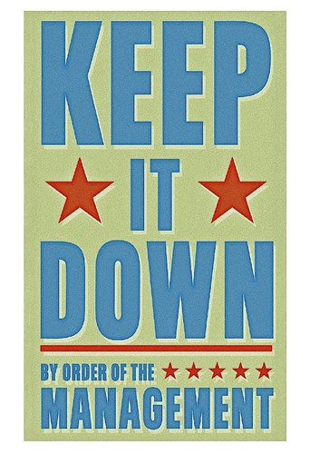 Keep It Down Poster by John W. Golden for $20.00 CAD