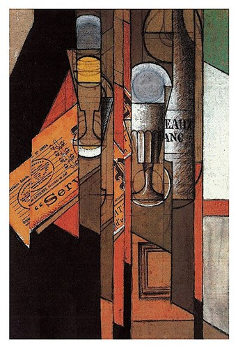 Glasses, Newspaper, and Bottle of Wine Poster by Juan Gris for $18.75 CAD