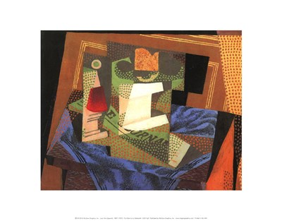 Fruit Bowl on a Tablecloth Poster by Juan Gris for $15.00 CAD