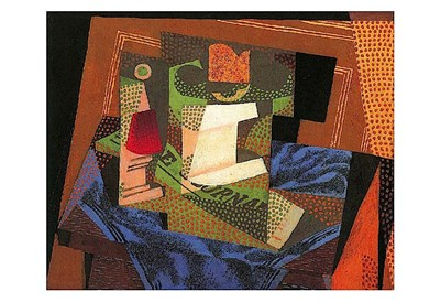Fruit Bowl on a Tablecloth Poster by Juan Gris for $18.75 CAD