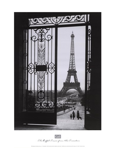 The Eiffel Tower from the Trocadero Poster by Sally Gall for $26.25 CAD